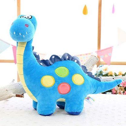 peluche dinosaure bleu de face