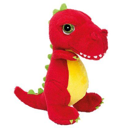 peluche dinosaure rouge