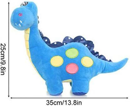 taille peluche dinosaure bleu
