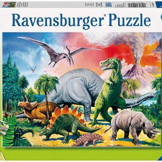 Puzzle 100 pièces : Au Milieu Des Dinosaures - Ravensburger