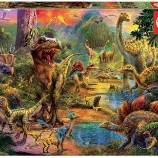 Puzzle 1000 pièces Terre de Dinosaures - Educa