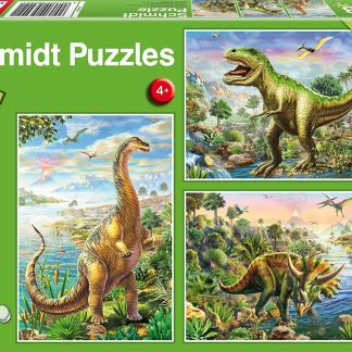 Puzzle 3 x 48 pièces Aventure avec Les Dinosaures - Schmidt Spiele