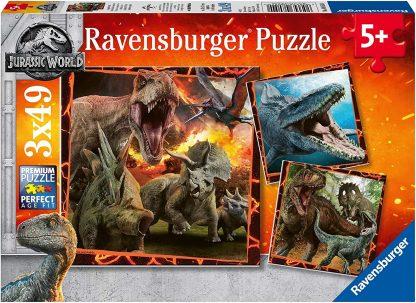 Puzzle 3 x 49 pièces : Jurassic World Kingdom Puzzle- Ravensburger