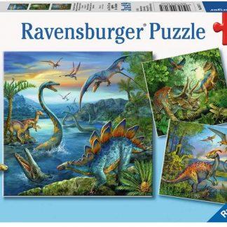 Puzzle 3 x 49 pièces La Fascination des Dinosaures - Ravensburger