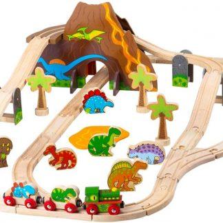 Bigjigs Rail - Train en bois dinosaure