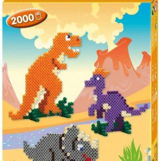 Hama - Boîte Perles à Repasser - Le Monde Des Dinosaures