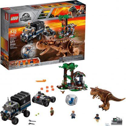 Lego Jurassic World Le Carnotaurus et la fuite en Gyrosphère