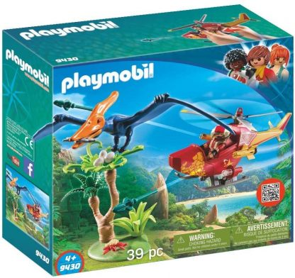 PLAYMOBIL - Hélicoptère et Ptéranodon