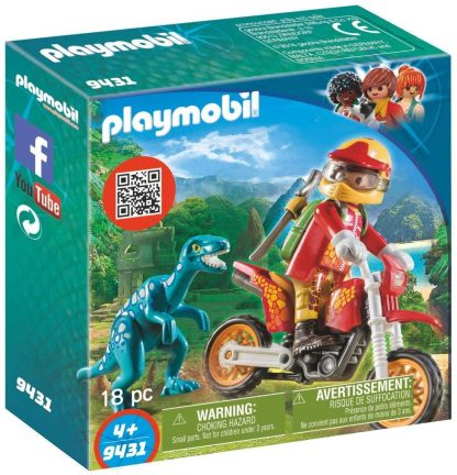 PLAYMOBIL - Pilote de moto et raptor
