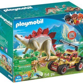 Playmobil - Explorateur avec véhicule et stégosaure